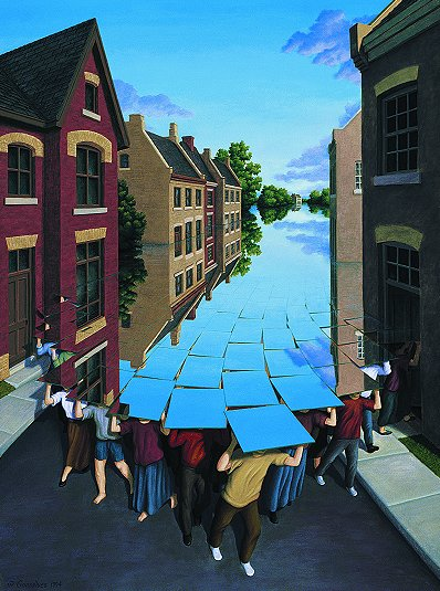 """Here Comes the Flood"" by Rob Gonsalves"